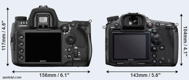 A850 and A99 II rear side
