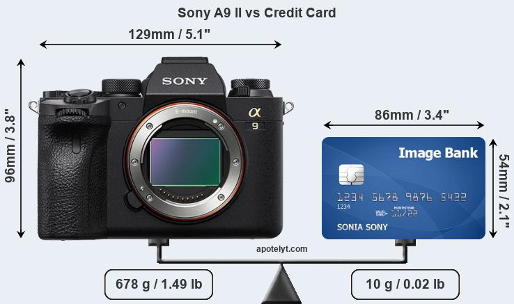 Sony A9 II vs credit card front