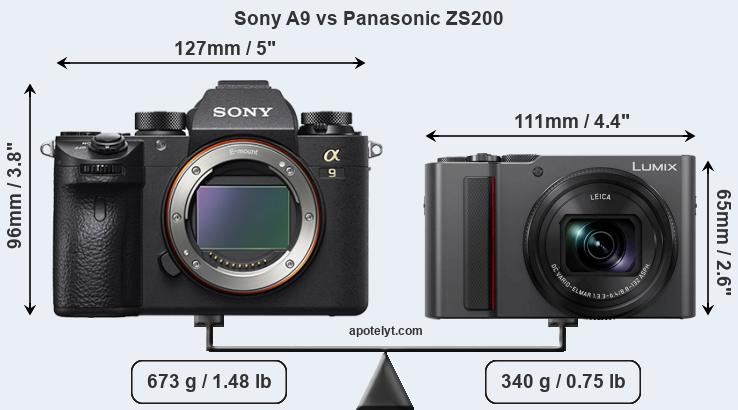 Compare Sony A9 vs Panasonic ZS200