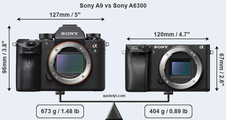 Compare Sony A9 vs Sony A6300