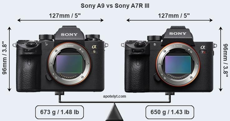 Compare Sony A9 vs Sony A7R III