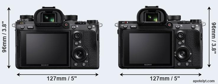 A9 and A7R III rear side