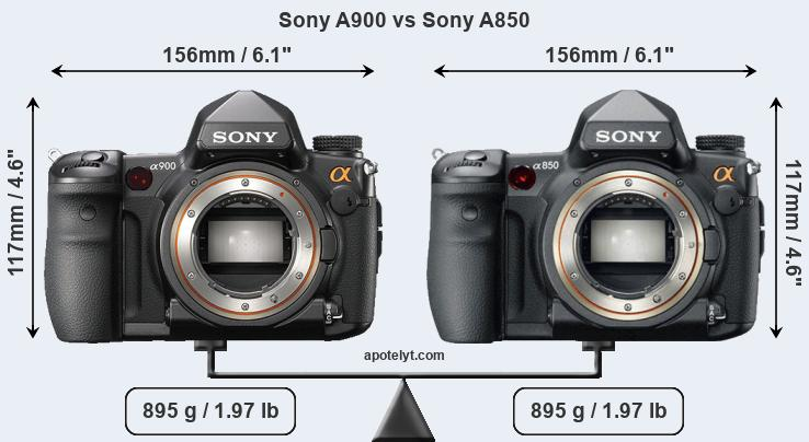 Compare Sony A900 vs Sony A850