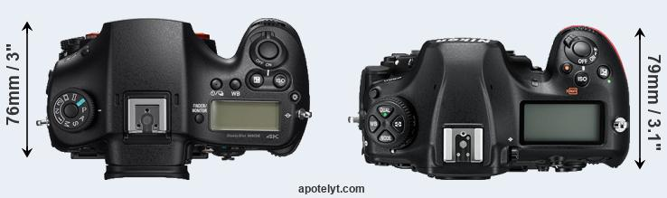 A99 II versus D850 top view