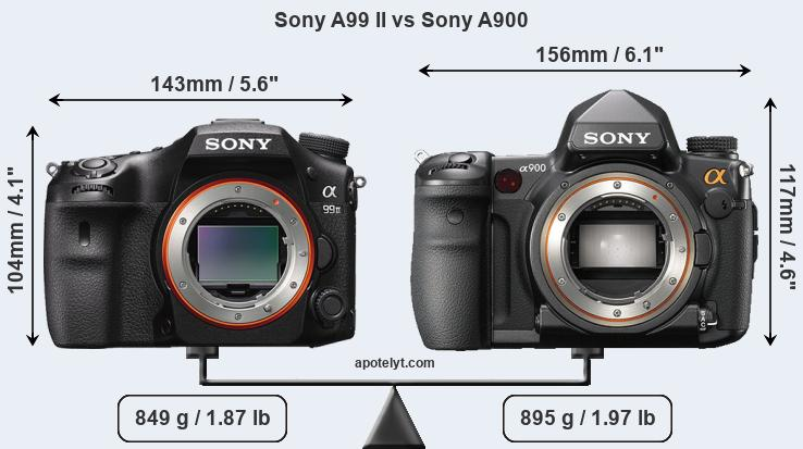 Compare Sony A99 II vs Sony A900