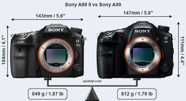 Compare Sony A99 II vs Sony A99
