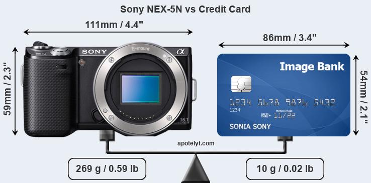 Sony NEX-5N vs credit card front