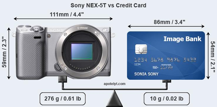 Sony NEX-5T vs credit card front