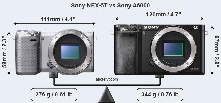 Compare Sony NEX-5T and Sony A6000