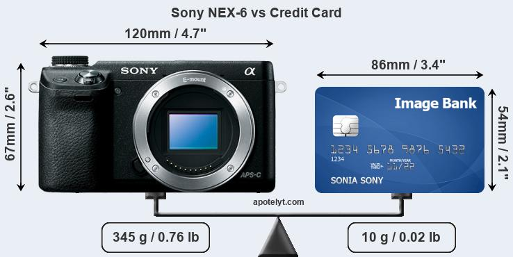 Sony NEX-6 vs credit card front