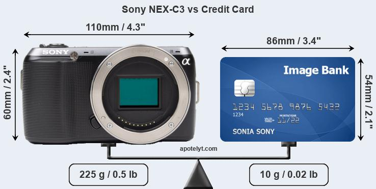 Sony NEX-C3 vs credit card front