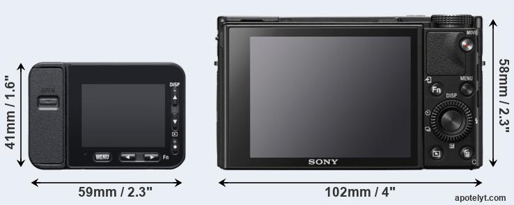 RX100M7 RX0 Ultra DSC-HX99 RX100 VII RX100 VI Camera Case for Sony RX0 II