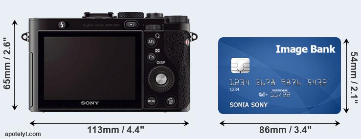 RX1 and credit card rear side