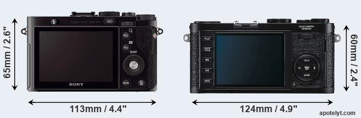 RX1 and X1 rear side