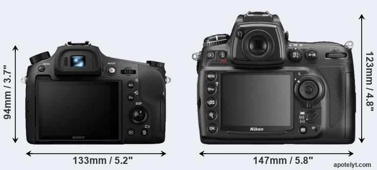 RX10 III and D700 rear side