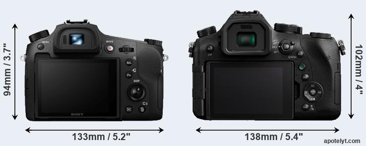 RX10 III and FZ2500 rear side