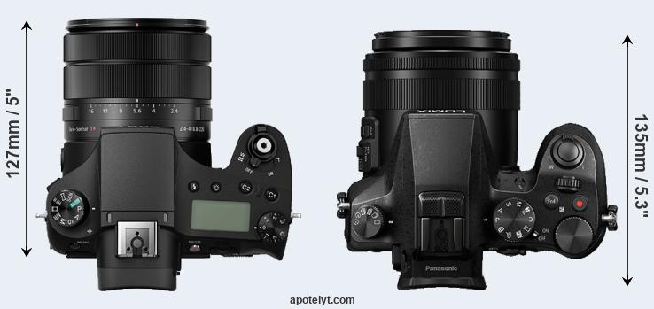 RX10 III versus FZ2500 top view