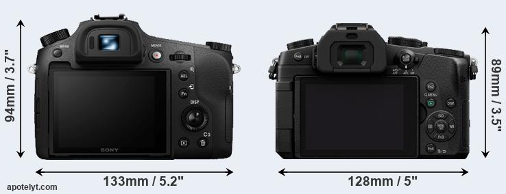RX10 III and G85 rear side