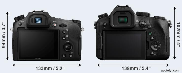 RX10 IV and FZ2500 rear side