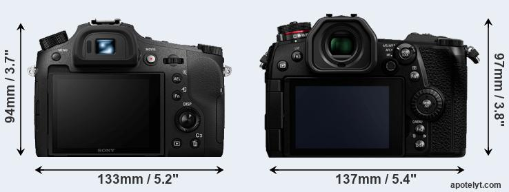 RX10 IV and G9 rear side