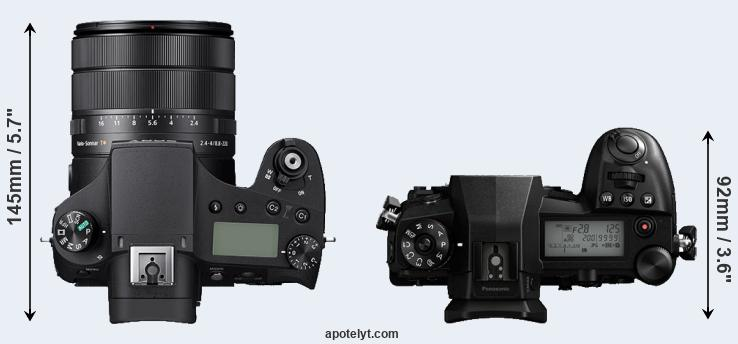 RX10 IV versus G9 top view
