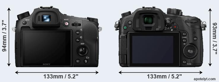 RX10 IV and GH4 rear side