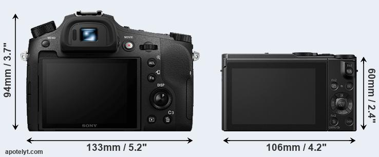 RX10 IV and LX10 rear side
