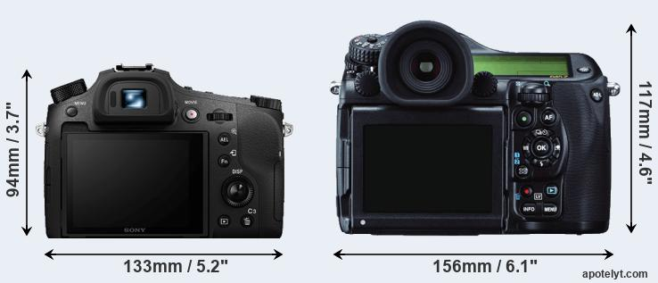 RX10 IV and 645Z rear side