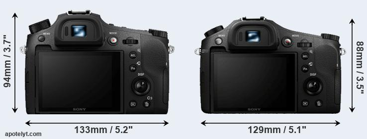 RX10 IV and RX10 rear side