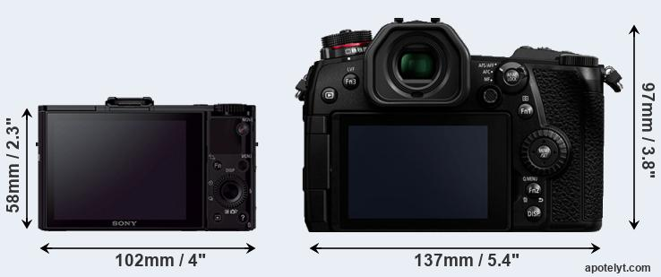 RX100 II and G9 rear side