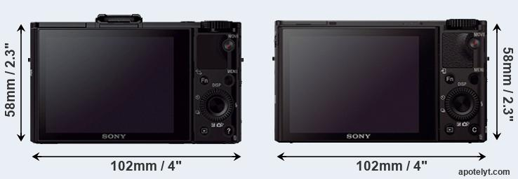 RX100 II and RX100 III rear side