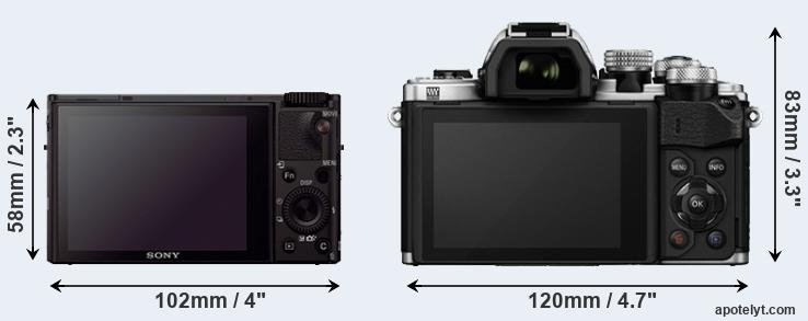 RX100 III and E-M10 II rear side