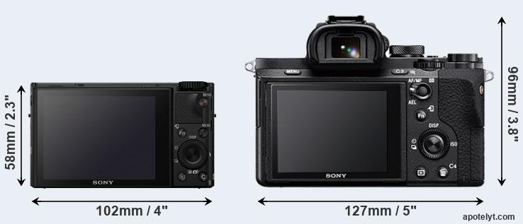 RX100 IV and A7 II rear side