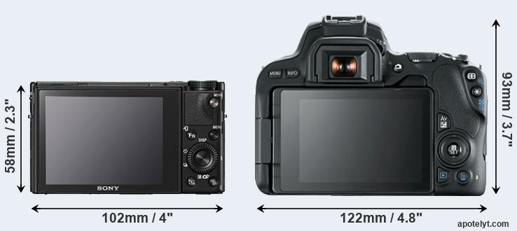 RX100 V and 200D rear side