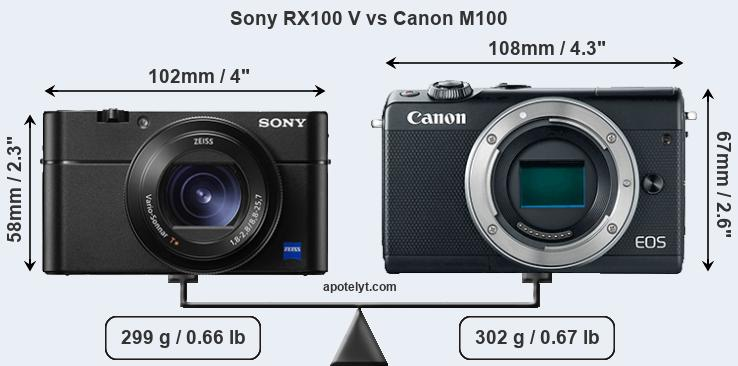 Compare Sony RX100 V and Canon M100