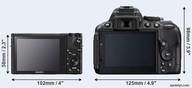 RX100 V and D5300 rear side