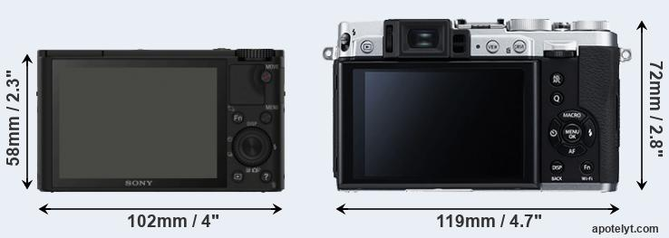 RX100 and X30 rear side