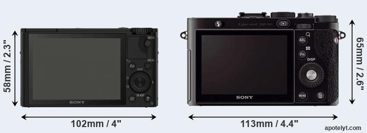 RX100 and RX1 rear side