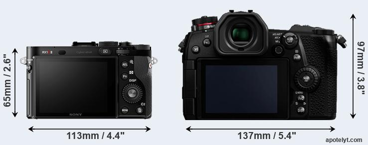 RX1R II and G9 rear side