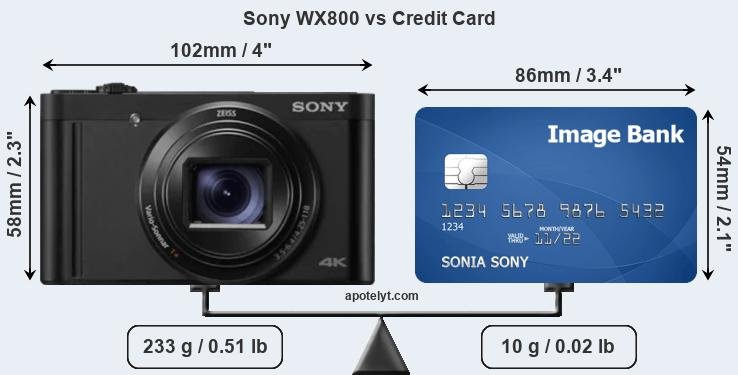Sony WX800 vs credit card front