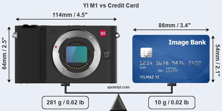 YI M1 vs credit card front