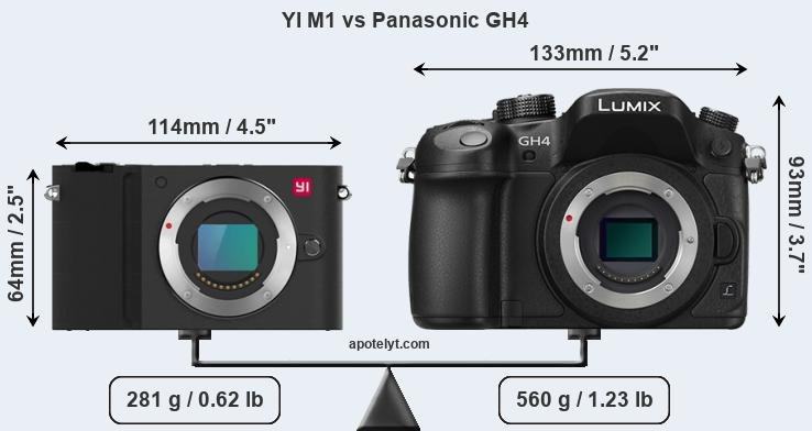Compare YI M1 vs Panasonic GH4